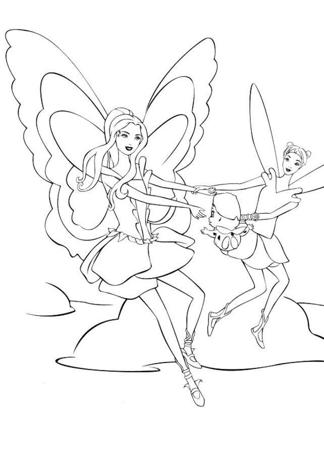 dibujos para colorear de barbie mariposa - totalmente gratis