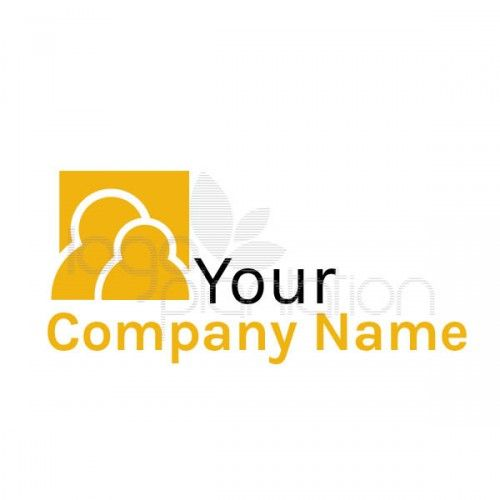 This logo is of the head and shoulders of two yellow people. Located on the top right of the company name. The logo is supplied with Open Source Google Fonts. The file formats provided are JPG and EPS. See more at http://www.logoplantation.com/shop/yellow-people-background/