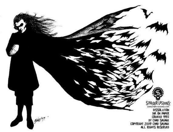 Dissolution 1993 Original Vampire Drawing by ChadSavage on Etsy #vampire #fineart #halloweenartistbazaar