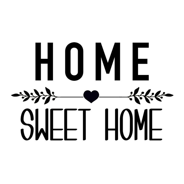 "Sticker ""Home Sweet Home"" - Affaires de Famille"