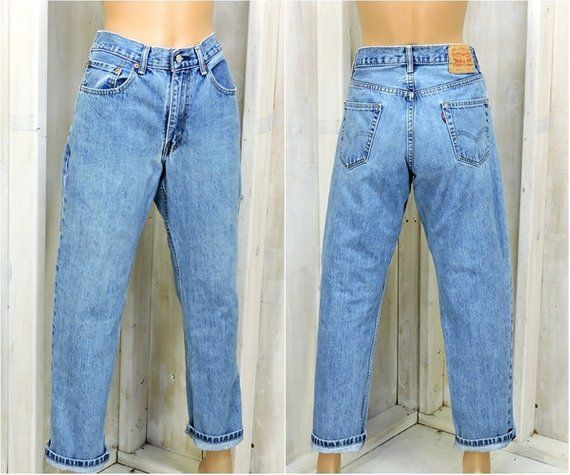 2f839287005 Vintage Levis 550 jeans 31 X 30 size 7 / 8 / high waisted LEVI'S mom jeans  / medium wash