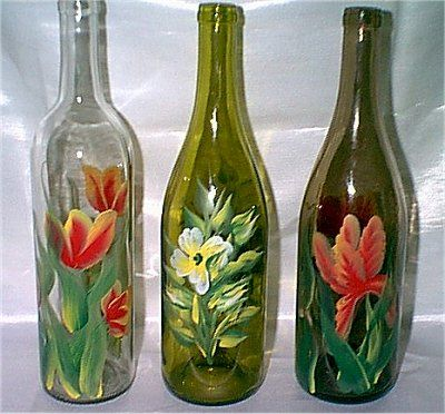 hand painted wine glasses ideas bottle designs are tulips simple