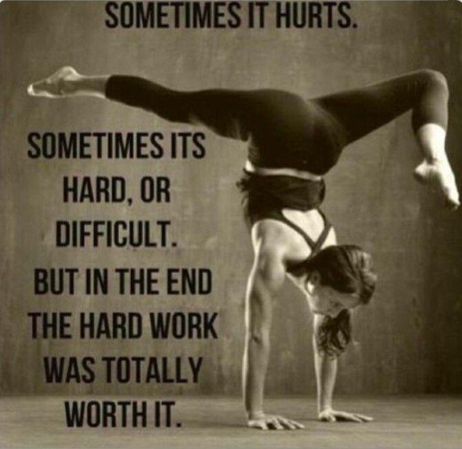 #Yoga #motivation #quotes   Sis   Pinterest   It hurts ...