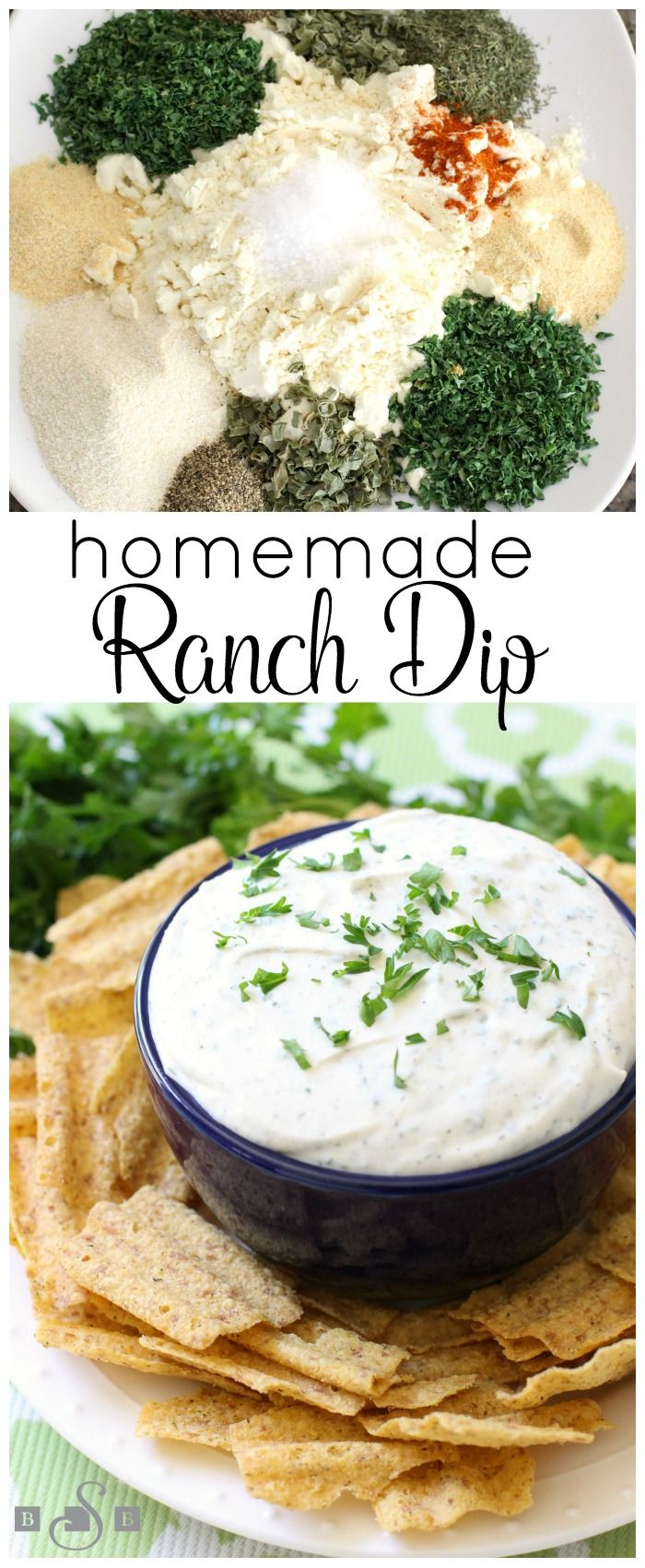 Homemade Ranch Dip - Butter With A Side of Bread -- Did you know making your own dry Ranch dressing mix is SUPER easy?! It makes a ton too- so take 5 minutes and mix it up and you'll be set for a while. Enjoy this lovely Ranch Dip too! #ad #wavesoflaughter