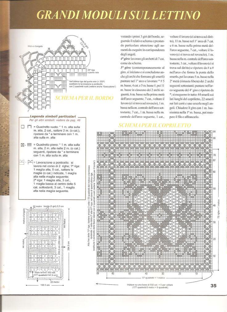 Вязание крючком покрывало большой и квадрат (2)