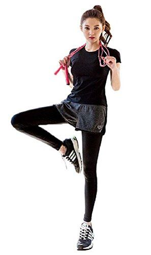 (ルナーベリー) Lunar Berry レディース スポーツウェア 上下 Tシャツ ショートパンツ スパッツ セットアップ 3002