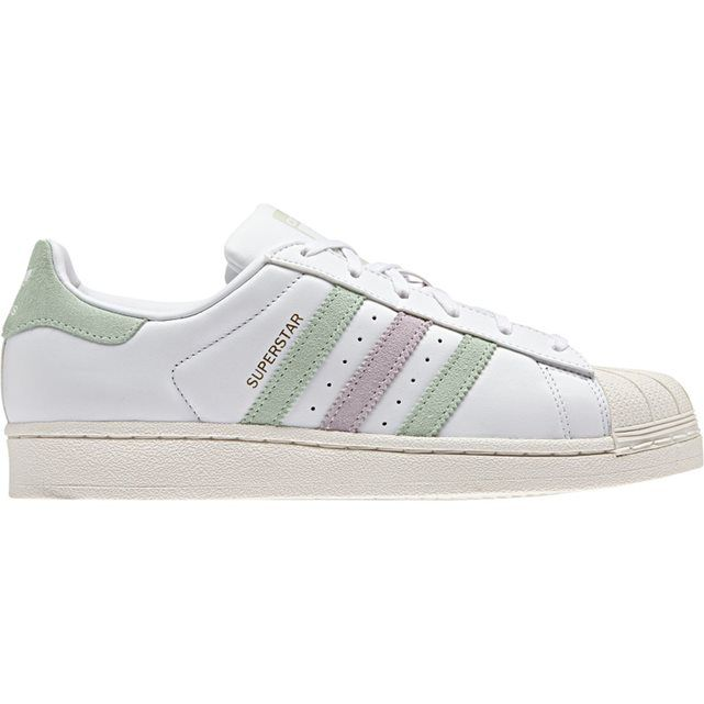 adidas superstar light pink \/white sparkle tierra