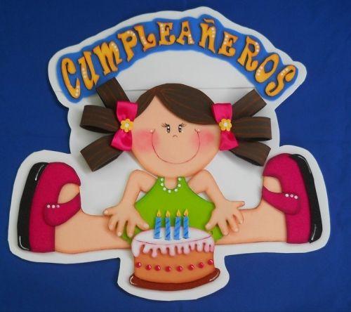 ambientacion de aula - cartel de cumpleaños