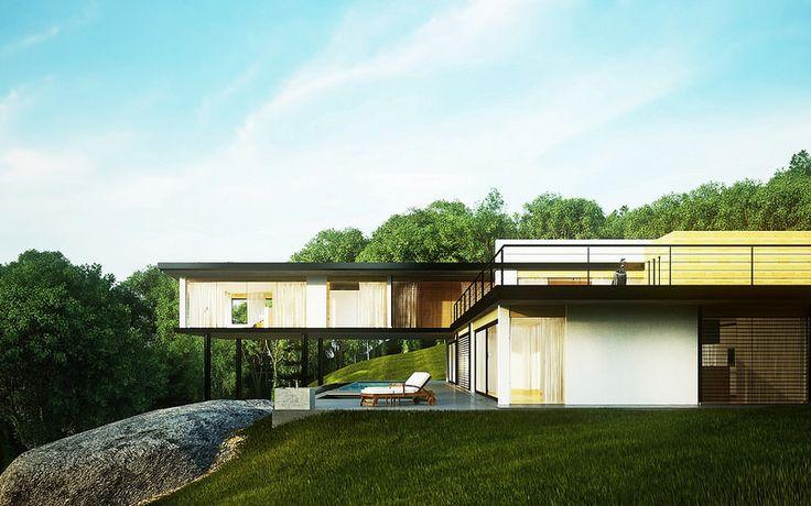 3D CHALLENGE-CAM2- Minimalist Modern Eco House