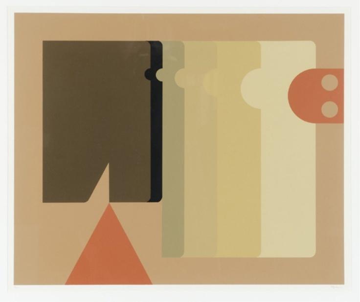 Lot 116: Manuel Felguerez abstract serigraph. Estimate: $300-$500.