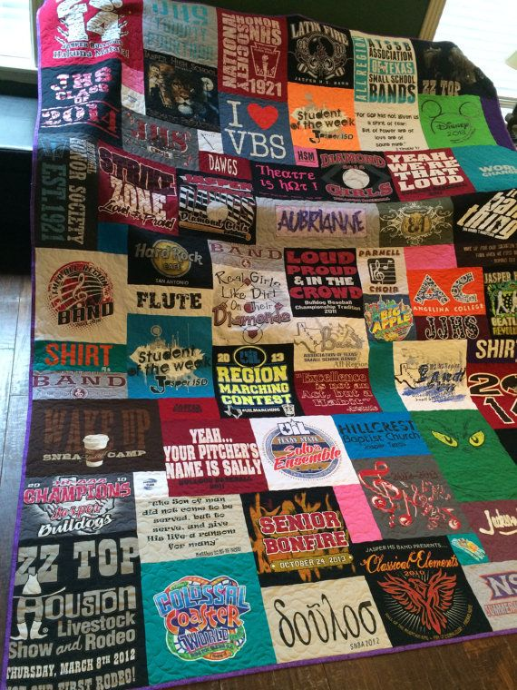 Hey, I found this really awesome Etsy listing at https://www.etsy.com/listing/217456541/personalized-t-shirt-quilt