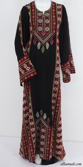 Deluxe Embroidered Palestinian Fellaha Dress - th743 - AlHannah Islamic Clothing
