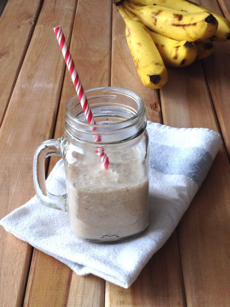 Receta fácil del batido de banano. #receta #food #recipe #yummy #fruit #recetacasera