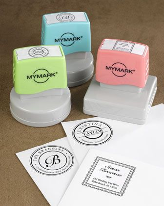 WANT!!!   Personalized+Self-Inking+Stampers+at+Horchow.