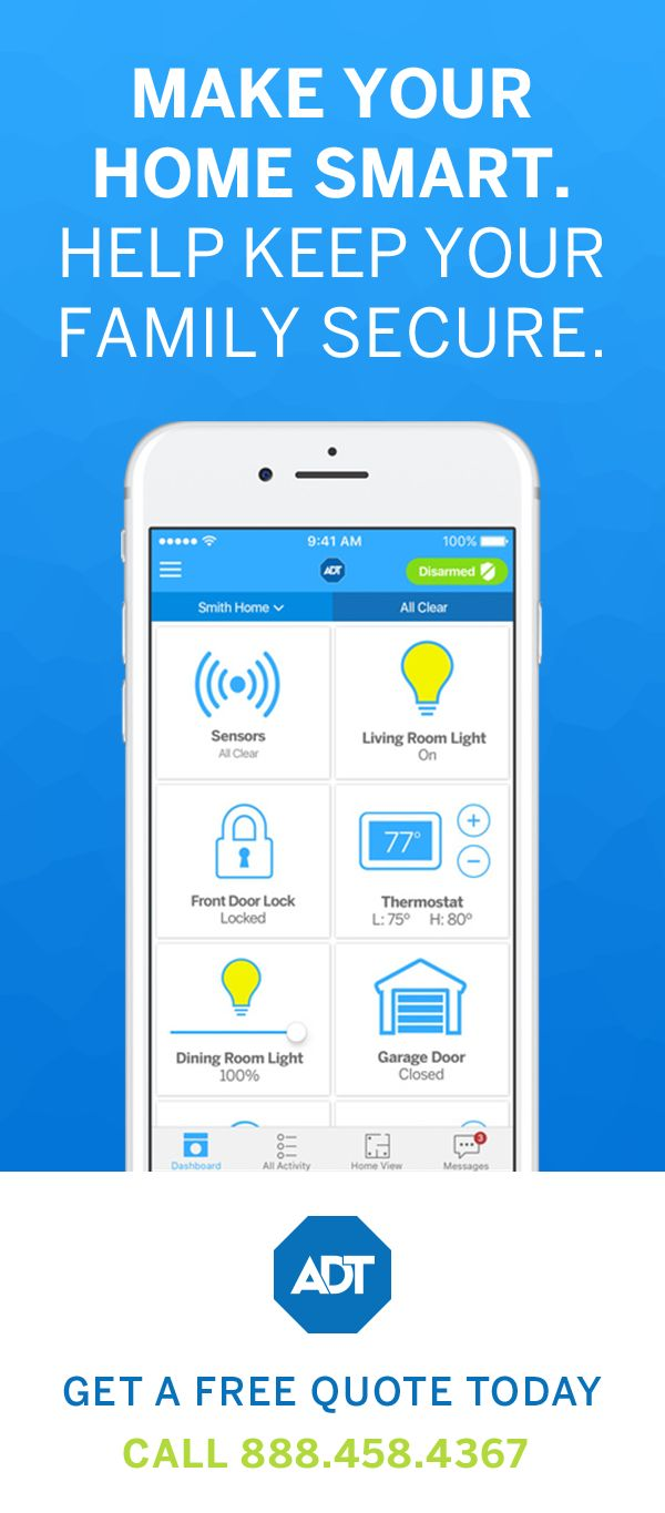Make the smart choice. Choose ADT Pulse® and bring your security system into 2017 with smartphone features that make it possible to arm your home from virtually anywhere. Learn more about ADT Pulse® today.