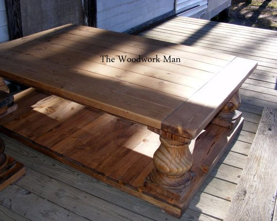 17 best images about coffee tables on pinterest english for Wood balusters for tables