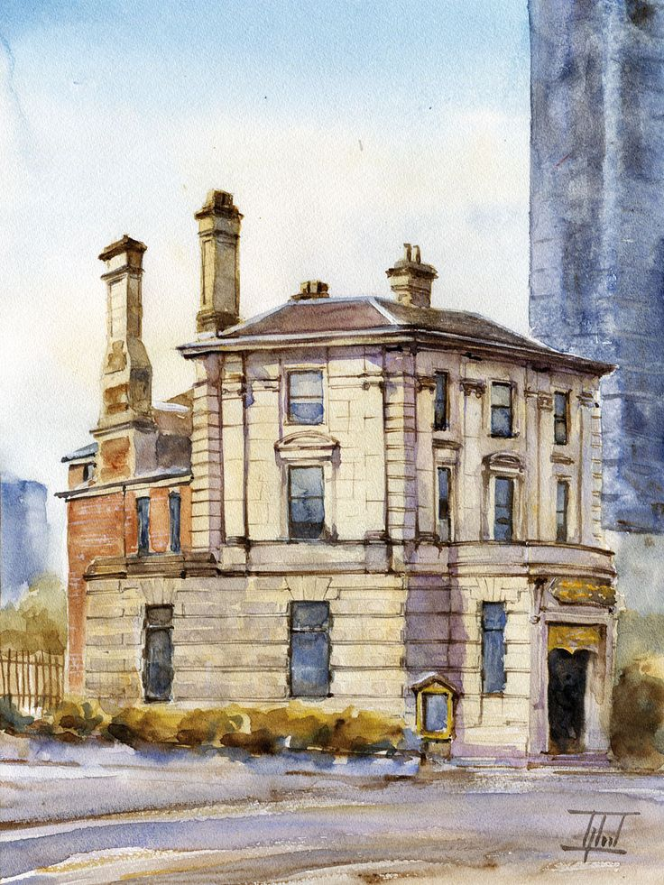 #Sheffield, UK #Watercolour - 30cm x 40cm Jaroslaw Glod - http://www.artende.pl