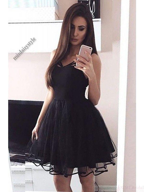 Little Black Dressblack Homecoming Dressshort Black Prom Dress