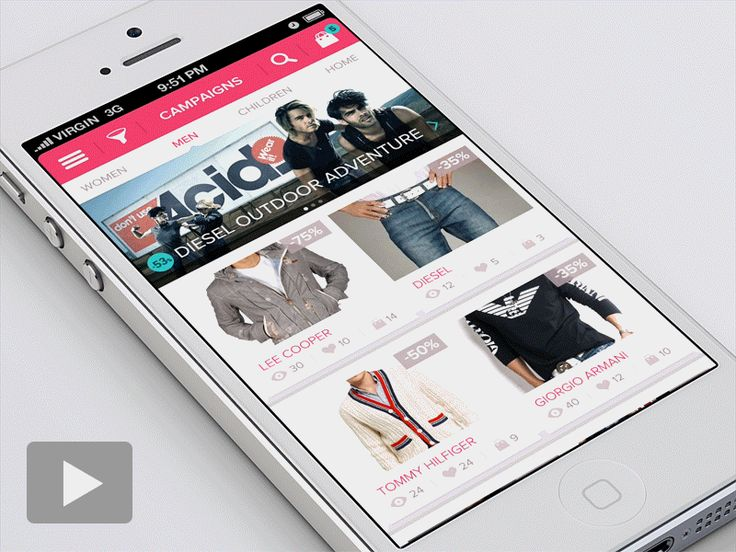 iPhone custom search filter by Virgil Pana