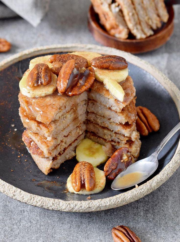3ingredient banana oat pancakes that are vegan dairy