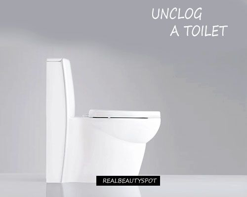 UNCLOGGING A CLOGGED TOILET WITHOUT PLUNGER