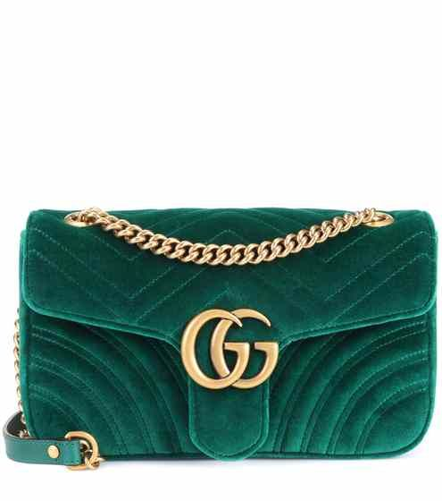bfaa0a56 GG Marmont velvet shoulder bag | Gucci | Bags in 2019 | Gucci ...