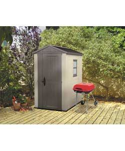 Keter Apex Plastic Garden Shed - 6 x 4ft. Small, sturdy, low maintenance.