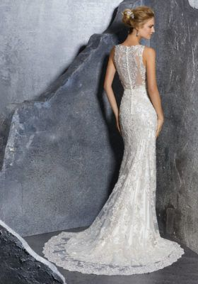 Mori Lee Bridal Gown Style Number 8217 Vintage Inspired Crystal Beaded With Embroidered