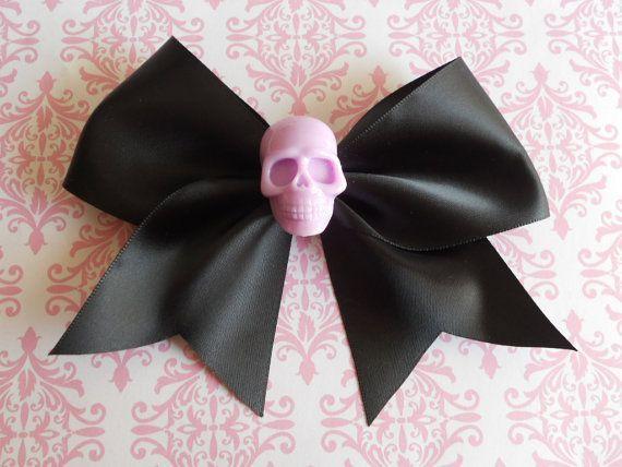 Pastell Goth schwarz Haarschleife mit hell lila Schädel Punk Lolita Lavendel auf Etsy …, #Black …