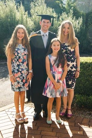 Matt had the support of his family, Kylie, Emily and Lucy at his Graduation Day. #usqgrad