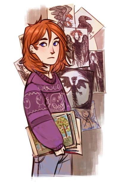 Character: Liliana, a girl who can see normally invisible monsters. She is deaf and mute, but draws them out to explain what she sees. Her caretaker, an autistic women named Sally, helps explain the monsters to Chimera. The two are very close, and communicate primarily through sign language. (7)
