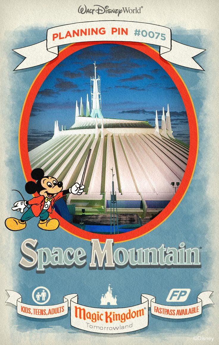 Walt Disney World Planning Pin: Blast off on a rip-roaring rocket through the darkest reaches of outer space.