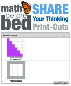 To help get your child's 'thinking out into the open and visible I've created a Share-Your-Thinking Print Out. Right now belowyou canget a free 20 pages you can print out and give to …
