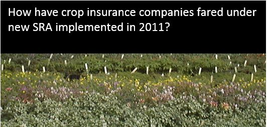 How have crop insurance companies fared under new SRA implemented in 2011?