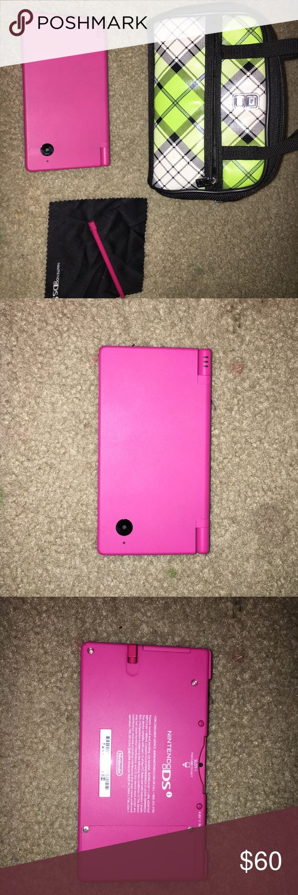 Barely Used Pink Nintendo DSi💕 Barely ever used Nintendo DSi. Has stylus, extra stylus, carrying bag that also holds games, and stylus. All original, just missing the charger (you can get chargers from places like game stop for about $10 or less!)  also has two games which were paid for downloaded on the DS😊 make an offer, I can negotiate! Nintendo Other