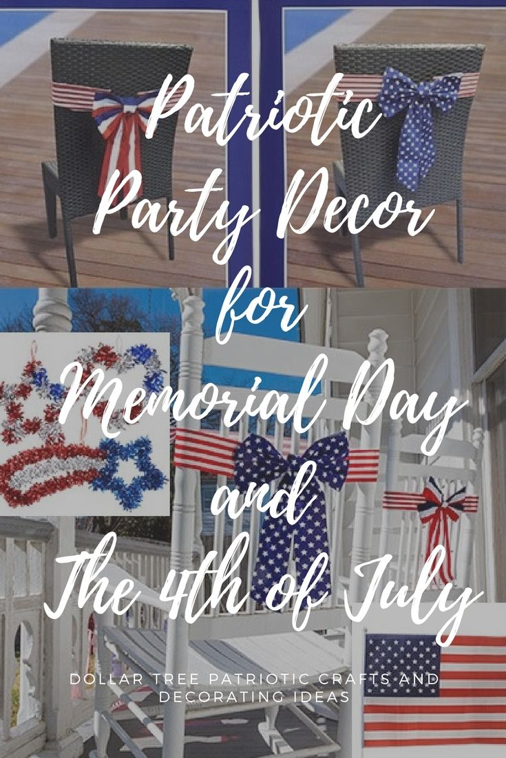 Patriotic Party Decorations And Craft Ideas For Memorial Day And The 4th Of  July