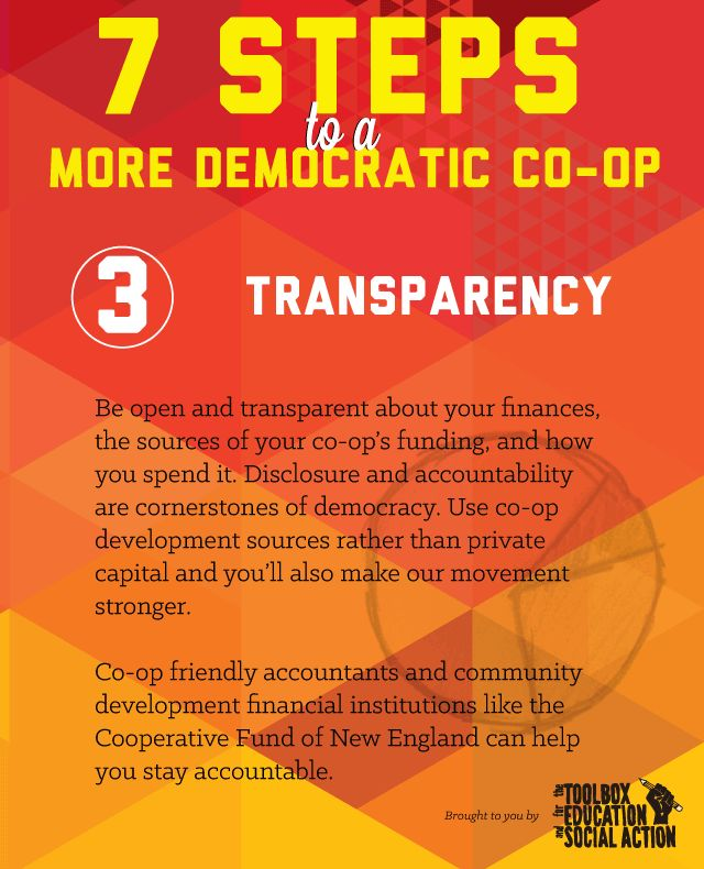 Co-op month means more than just pride in one's co-op – it's also about sharing ways to improve our cooperative. Please share with us ideas and sources for workplace democracy information! To…