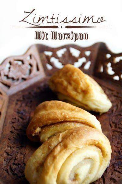 Zimtschnecken mit Marzipan