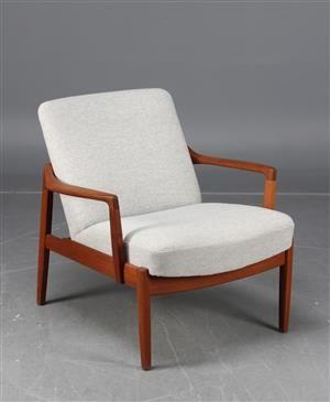 Lænestole - køb og salg af moderne, nyt, antikke og brugte - Tove & Edvard Kindt-Larsen, fåtölj, France & Søn - SE, Stockholm, Slakthusgatan