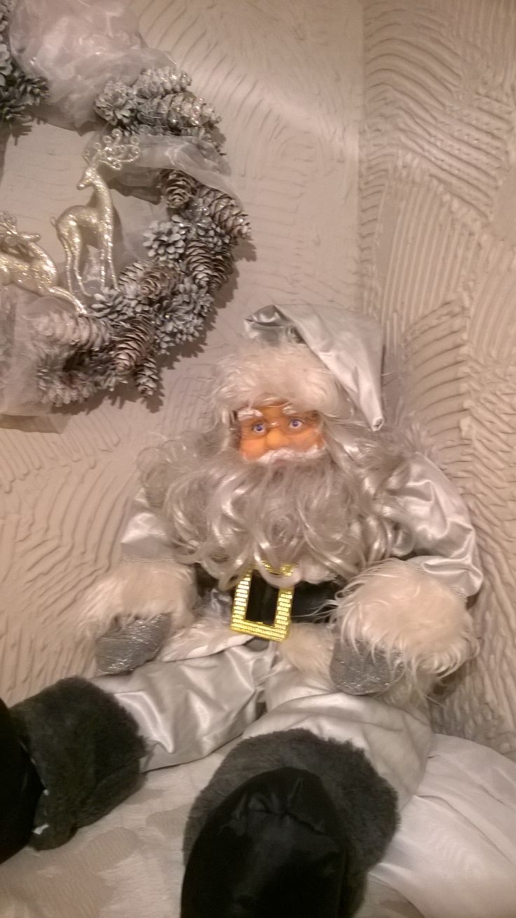 christmas silver Santa