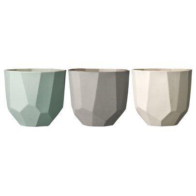 Danish Pastel Ceramic Pots- Set of 3