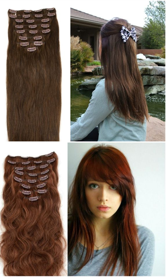 22 best hair images on pinterest best hairstyles haircut images 200g 22 inch 33 rich copper red straight clip in hair pmusecretfo Choice Image