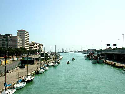 "Pescara ~ Once a simple fishing village, it is ""located on the Adriatic coast at the mouth of the Aterno-Pescara River,"" which carries the melting spring snows past the low, sandy beaches. (in the Abruzzo region of Italy) ~ ""Fave Place,"" for one pinner..."