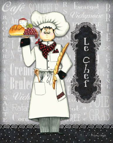 Le Chef Prints by Sydney Wright - AllPosters.co.uk