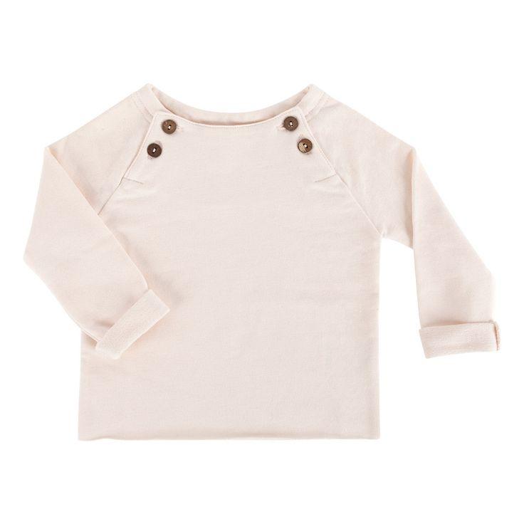 long sleeved top cream pink