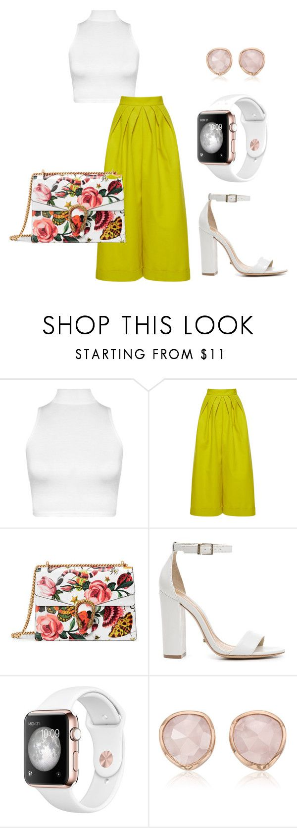 """A pop o color"" by britscarike on Polyvore featuring WearAll, Delpozo, Gucci, Schutz and Monica Vinader"