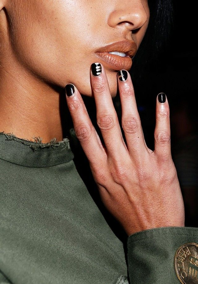 Best 25 monogram nails ideas on pinterest pretty nails spring 11 stunning fashion week manicures you can copy now gold nail artgold prinsesfo Gallery
