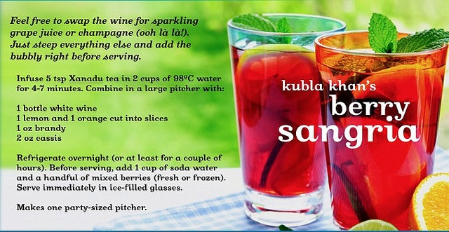 Kubla Khan's Berry Sangria by DAVID'sTEA, via Flickr