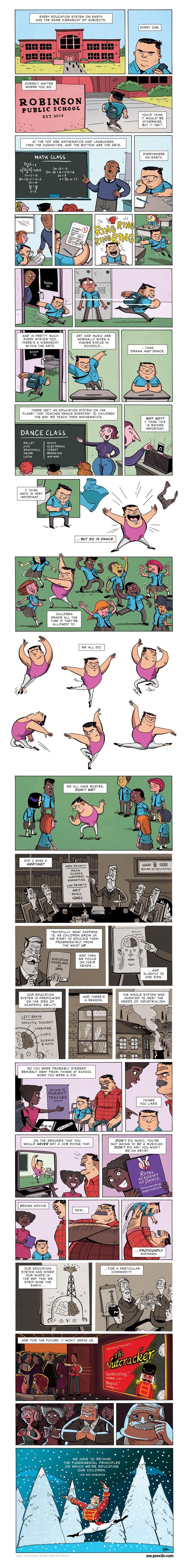 ZEN PENCILS » 162. SIR KEN ROBINSON: Full body education