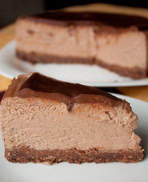 Тройной шоколадный чизкейк